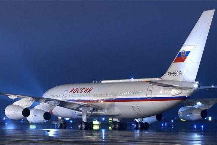 Интерьер самолета президента РФ