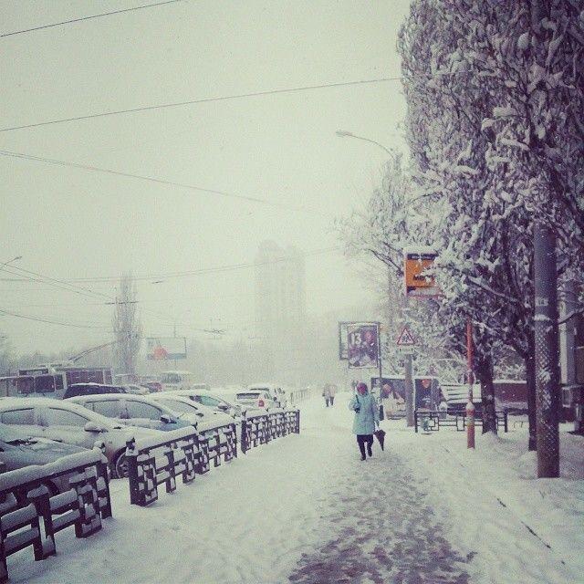 Весенний снегопад в Екатеринбурге