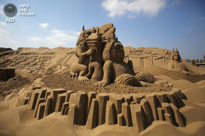 Фестиваль песчаных скульптур в Британии