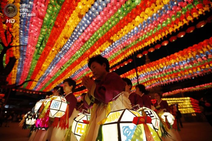 фестиваль фонарей в Сеуле