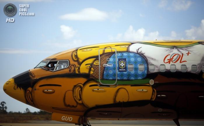 Креативный самолет сборной Бразили