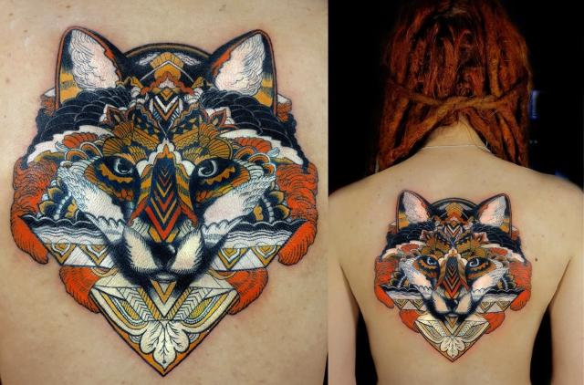 Красивые цветные татуировки