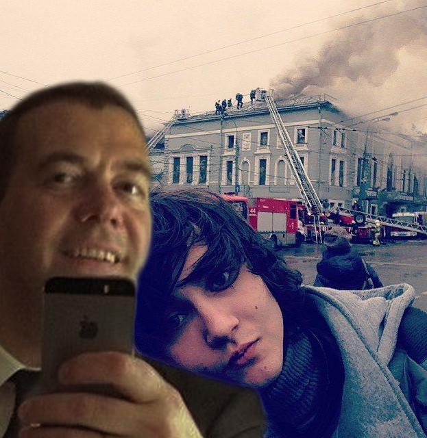 Фотожабы на селфи Медведева - 18