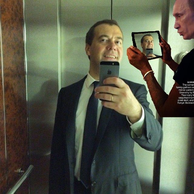 Фотожабы на селфи Медведева - 33