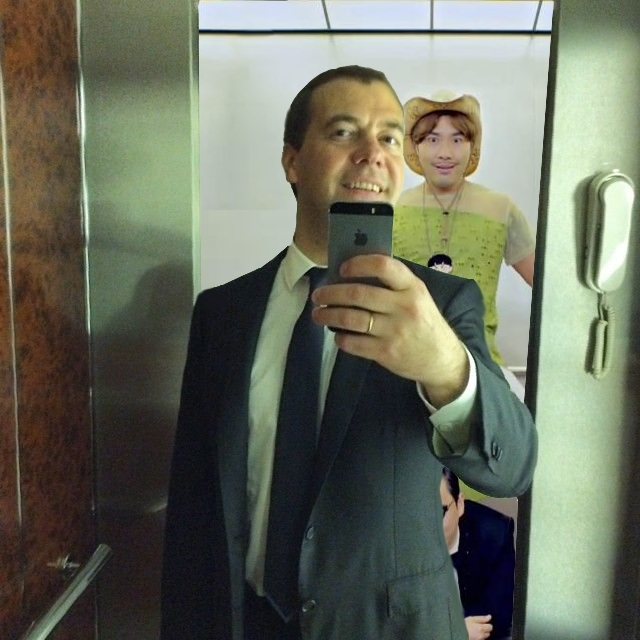 Фотожабы на селфи Медведева - 27