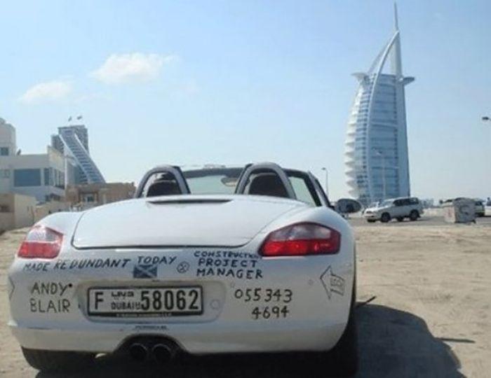 Брошенные автомобили Дубая