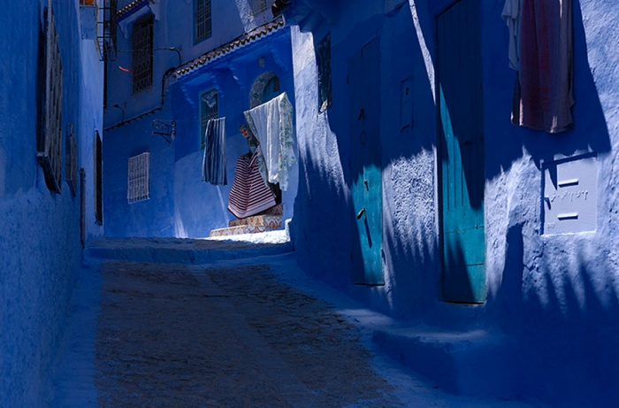 Прогулка по синему городу - 8