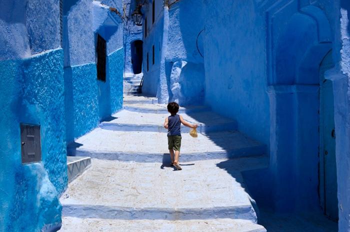Прогулка по синему городу - 11