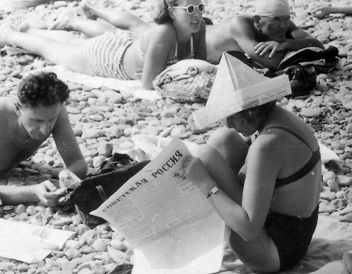 Пляжная жизнь в СССР