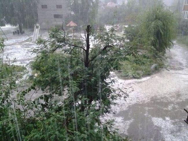 Горно-Алтайск после аномального града