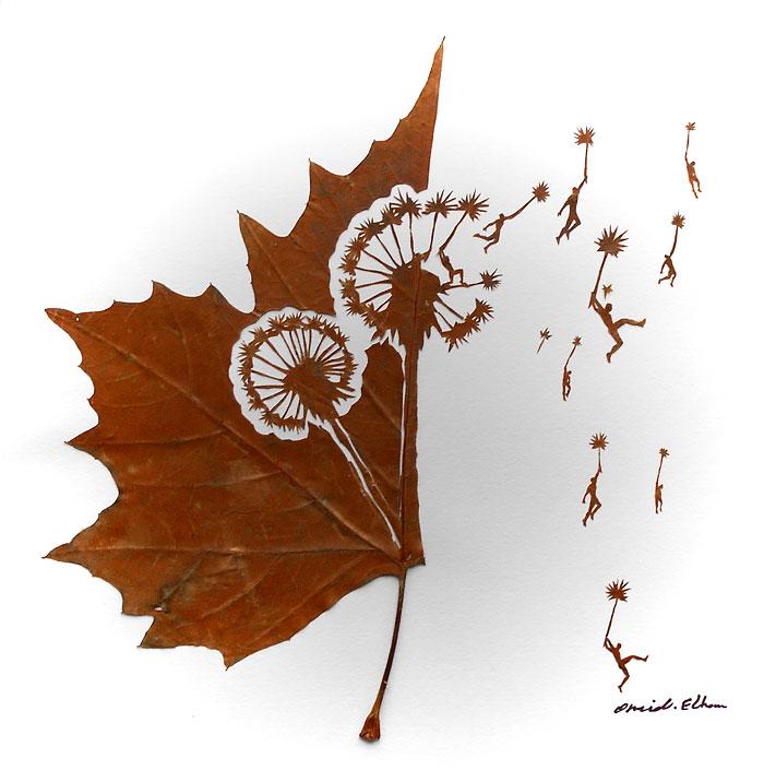 Креатив из листьев