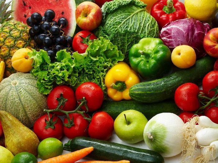 О цвете овощей и фрутктов