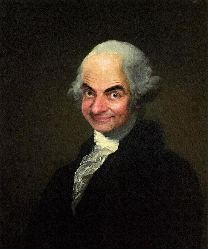 Мистер Бин на знаменитых полотнах