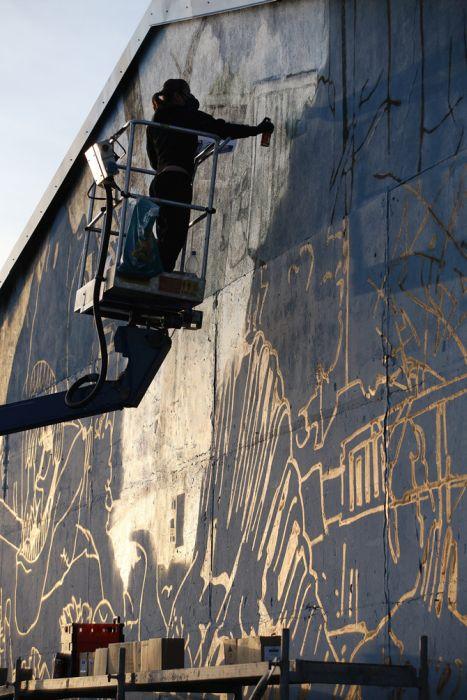 Граффити Парк Юрского периода