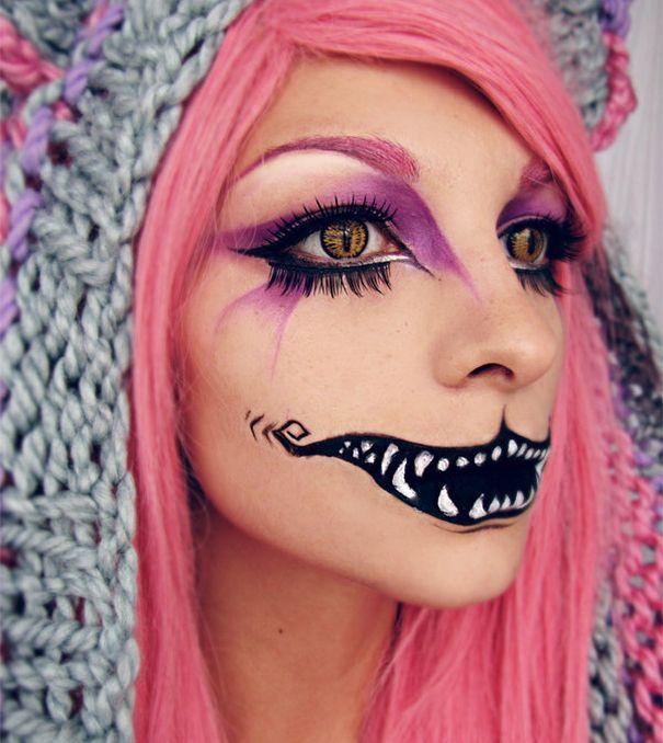 жуткий макияж для хэллоуина
