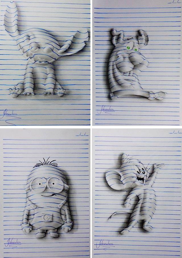 Объемные рисунки João Carvalho