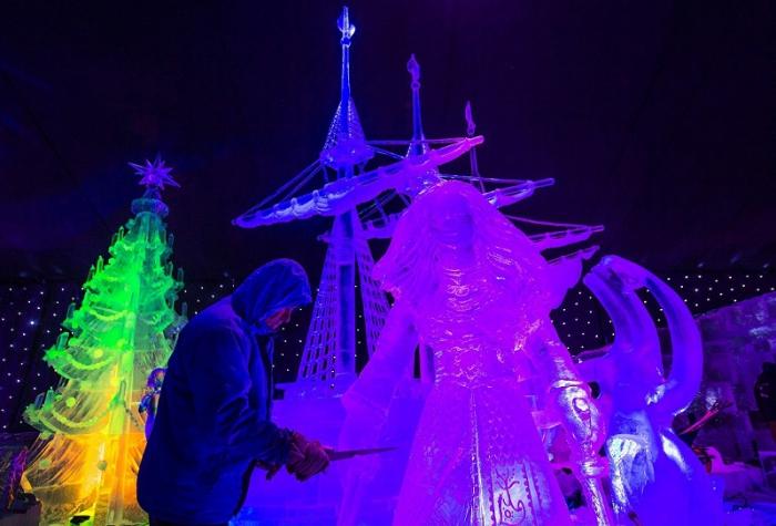 фестиваль ледяных скульптур