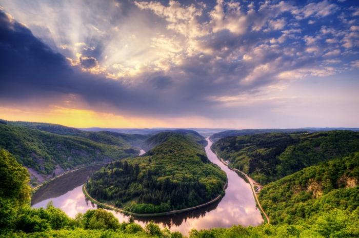 Петля реки Саар в Метлахе