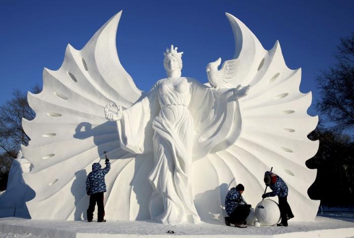 Фестиваль снежных скульптур в Харбине