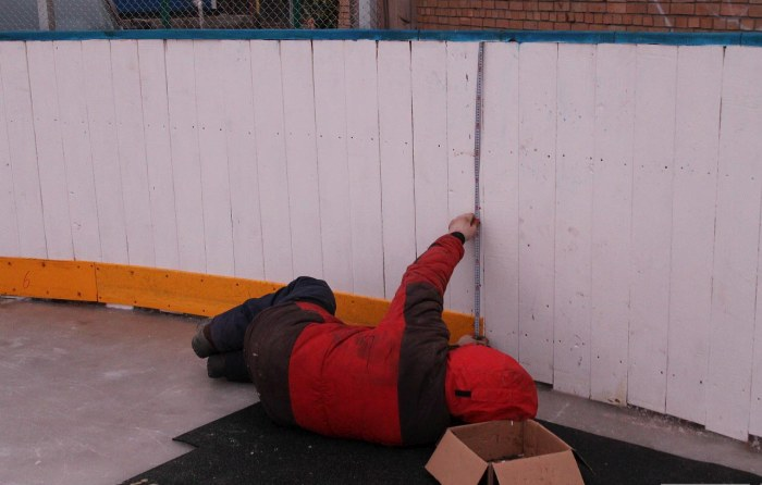Хоккейная коробка своими руками