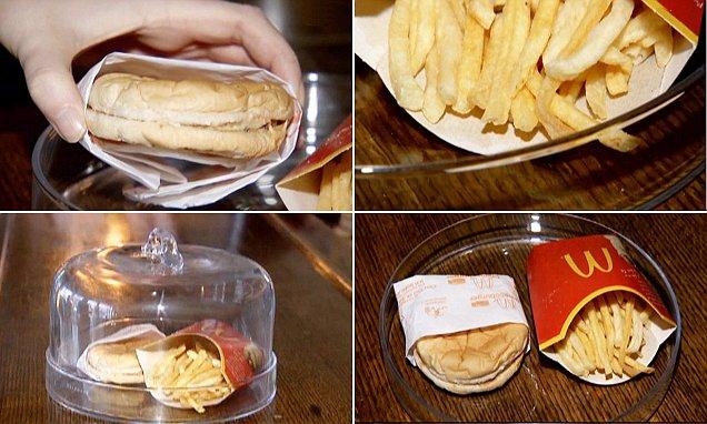 Шестилетняя еда из McDonald's