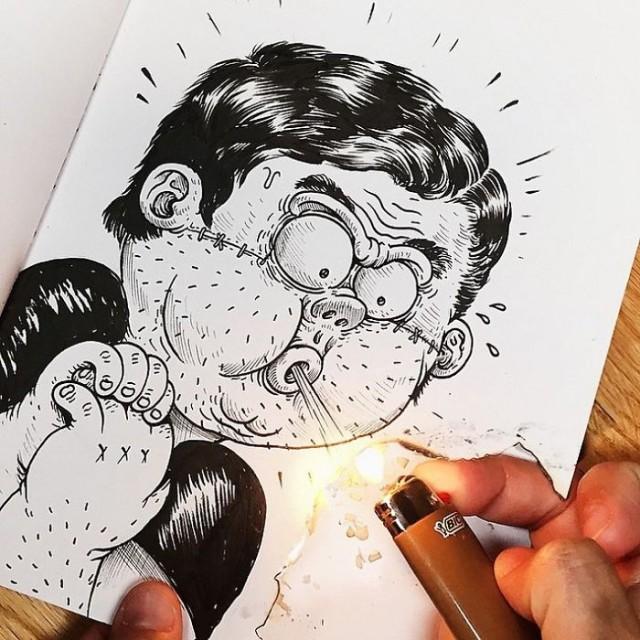 Открытку, прикольные креативные картинки для срисовки