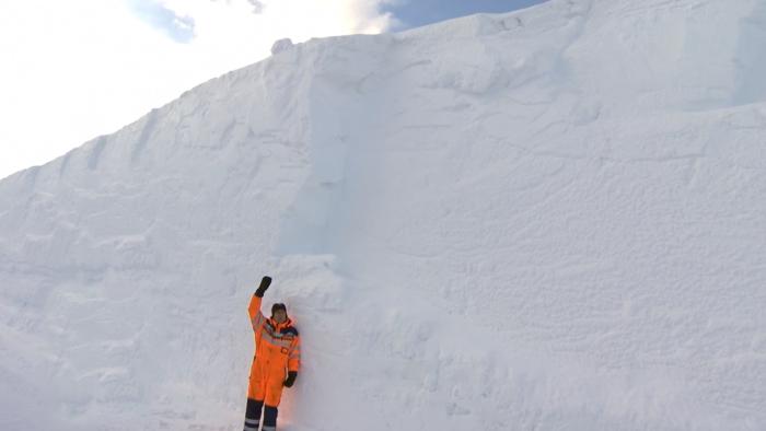 Зимняя дорога в Норвегии