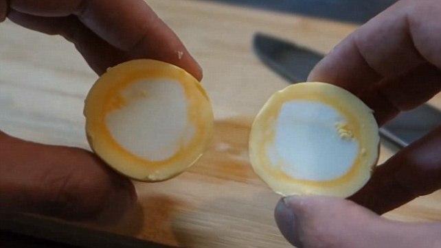 Как сварить прямые яйца