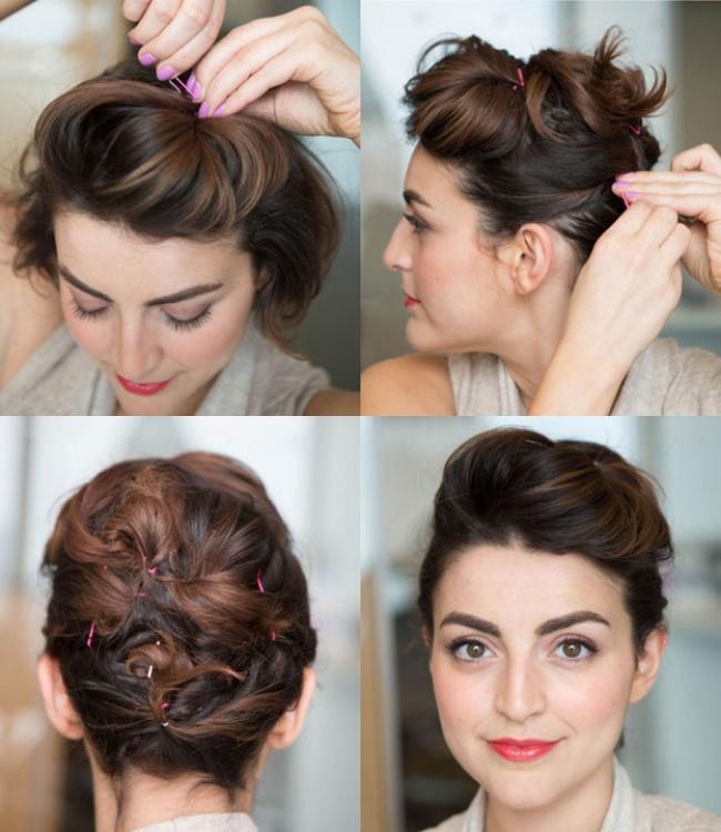 Красивая и легкая прическа на короткие волосы