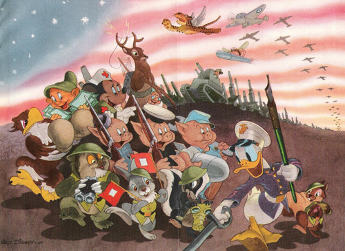 Герои мультфильмов на войне