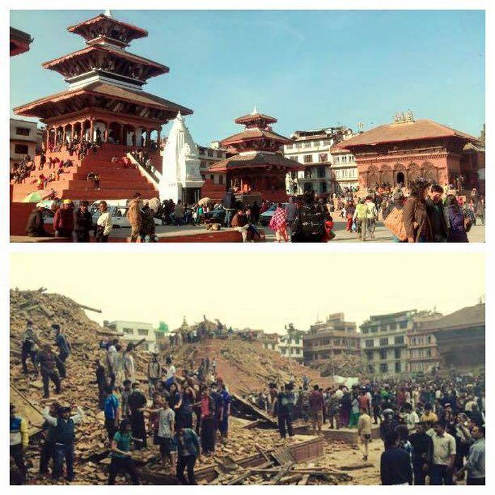 Непал до и после землетрясения