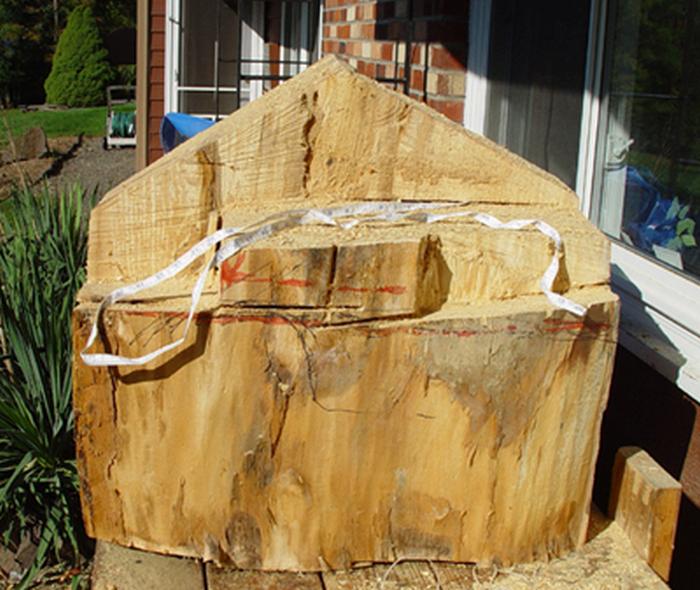 Процесс создания деревянной скульптуры
