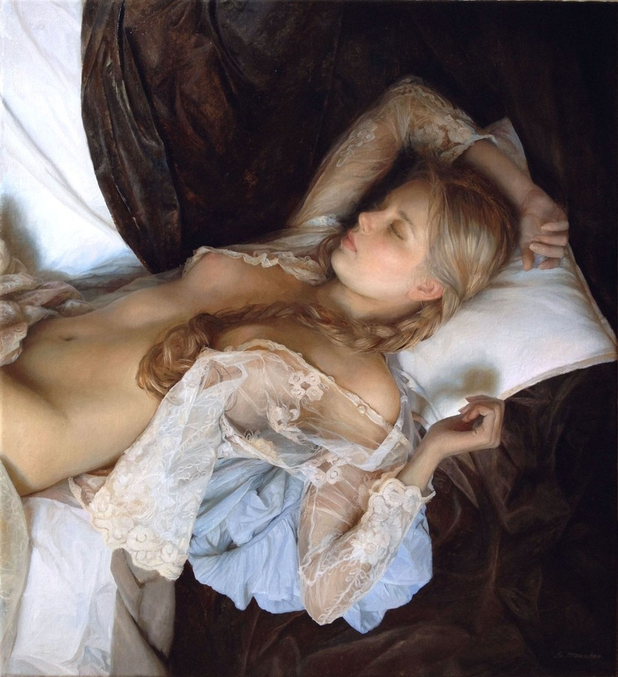 Эротика девушка картина 3 фотография