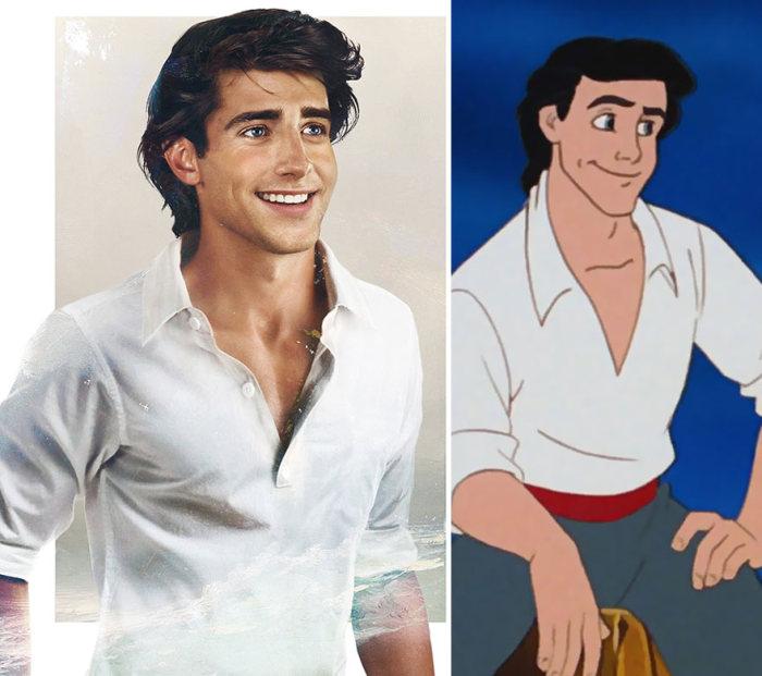 Если бы принцы из диснеевских мультфильмов были людьми