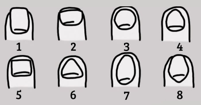 Узнай характер человека по форме его ногтей