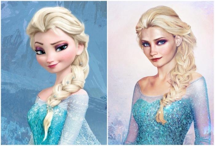 Если бы принцессы из диснеевских мультфильмов были людьми