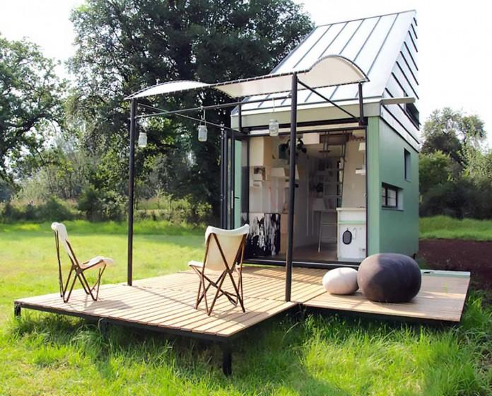 Мобильный дом с солнечными батареями