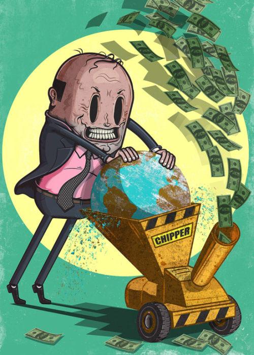 Современный мир в иллюстрациях Стива Каттса