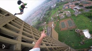 Съемка GoPro: прыжок с 27-этажного здания