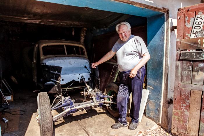 В гостях у Эдгара Гасунса - реставратора классических автомобилей
