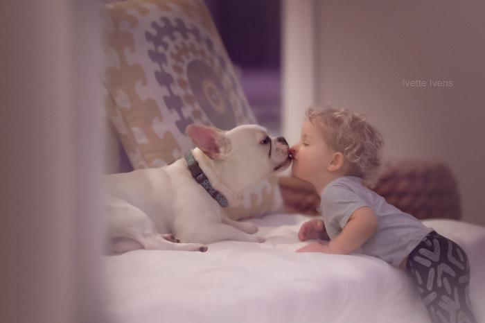 Милые фотографии детей с животными