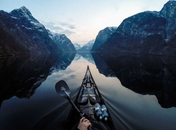 Путешествие на байдарке по Норвегии