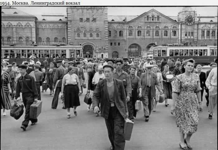 Москва и Ленинград в 1954 году