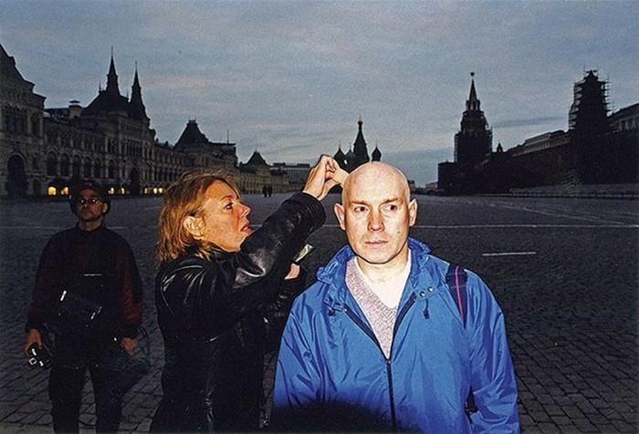 Виктор Сухоруков на съемках фильмов «Брат» и «Брат 2»