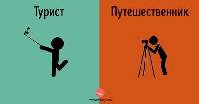 Отличия туриста от путешественника