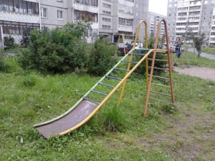Суровые детские площадки