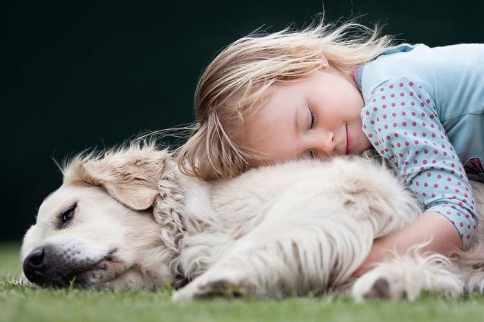 Лучшие фотографии детей и животных