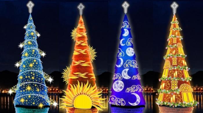 Самые зрелищные новогодние елки в мире