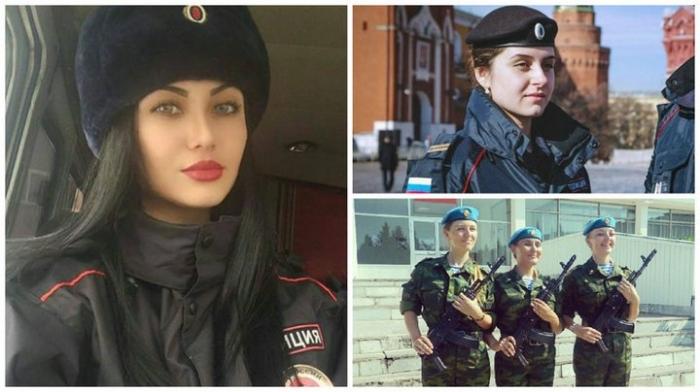 Русские девушки на страже Родины