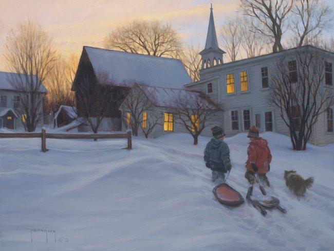 Беззаботное детство в картинах Роберта Дункана
